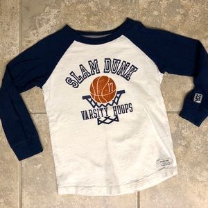 5/$25 Carter's raglan basketball long sleeve shirt